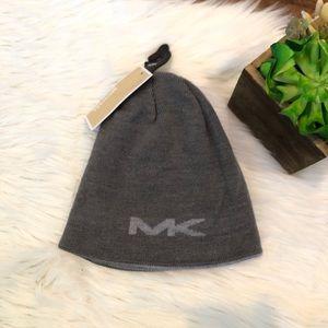 NEW Michael Kors Men's Hat Beanie Grey Reversible